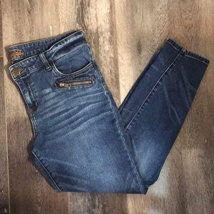 Kut from the Kloth Zipper Pocket Skinny Blue Jeans